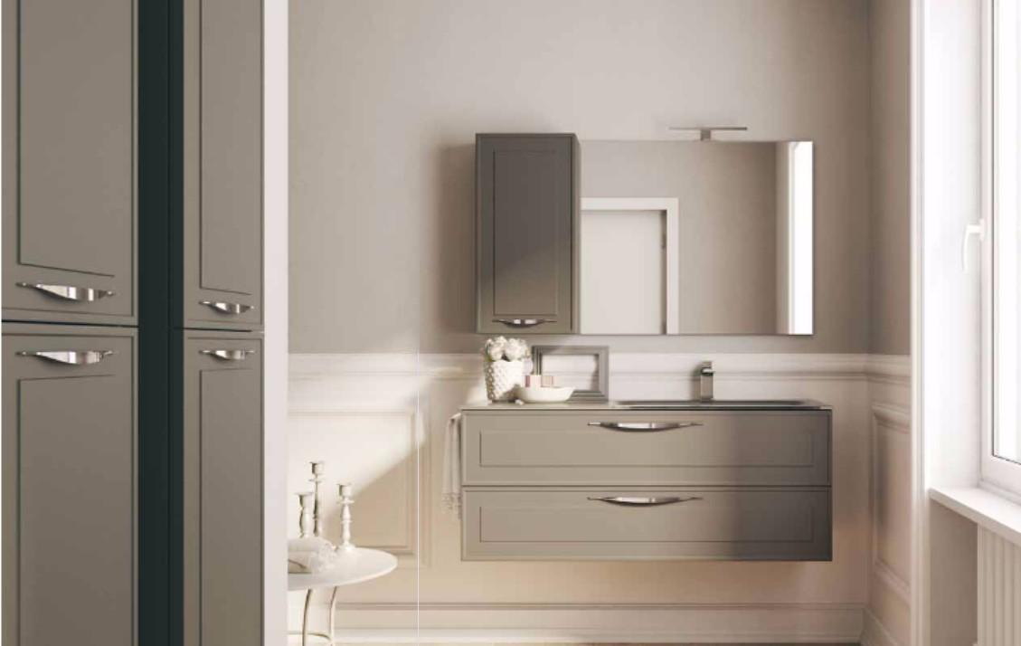Arredo bagno linea vintage nuova termo sanitaria for Mobili bagno vintage